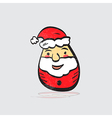 Modern flat design with retro cartoon Santa Claus vector image