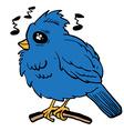 funny looking bird vector image vector image