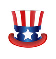 american flag hat independence day vector image