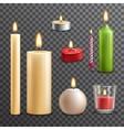 Candles transparent set vector image