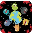 Cute monsters of apocalypse vector image