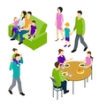 Family Isometric Set vector image