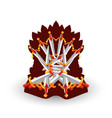 iron throne for computer games design vector image
