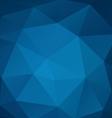 Poligonal blue background vector image