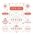 Spring Typographic Design Set Retro and Vintage vector image