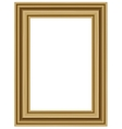 realistic wooden frame vector image vector image