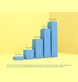 bar chart template abstract 3d infographic vector image
