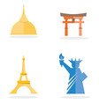 Four famous landmark icon vector image vector image