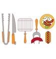 Food GrillBbqRoastSteak Flat vector image