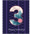 Happy birthday three card vector image vector image