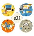 Web marketing vector image vector image