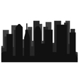 city skyline vector image