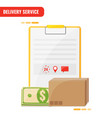 delivery service receiving order concept blank vector image