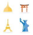 Four famous landmark icon vector image