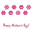 mothers day greeting card with pink flowers vector image