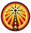 radio antenna symbol vector image