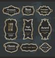 Set design elements sample labels badges shapes vector image