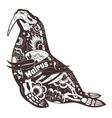 Stylized Walrus Skeleton vector image