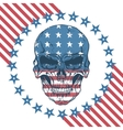 Urban label with skull vector image vector image