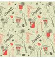 Vintage hand drawn pattern vector image