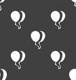 Balloon Icon sign Seamless pattern on a gray vector image