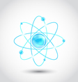 Atom symbol isolated on white background vector image vector image