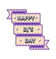 Happy DJs day greeting emblem vector image