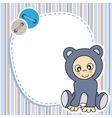 Framework for baby boy vector image vector image