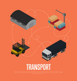commercial cargo transport isometric concept vector image