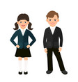elementary primary students kids in uniform vector image