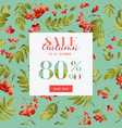 autumn sale floral banner fall discount vector image