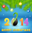 Christmas background with inscription and seed vector image
