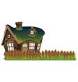 Stone house with turf roof vector image