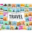 Travel logo design template trip or vector image