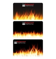 Burning Flame of Fire Banner vector image vector image