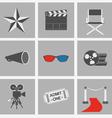 icons set Cinema vector image vector image