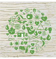 Ecological signs conceptual background - vector image
