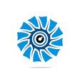 Abstract Logo Eye Circle Eyeball Symbol vector image