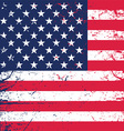 grunge american flag background 1606 vector image vector image