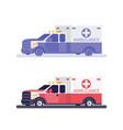 ambulance machine flat vector image