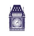 big ben clock vector image