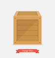 cargo wood box vector image