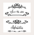 holiday invitation cards vector image