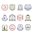 Law And Order Logo Stamps Set vector image