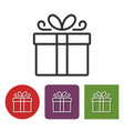line icon of gift box vector image
