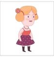 Pretty girl Dodo people collection vector image