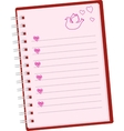 romantic pink note vector image
