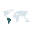 World map south america vector image
