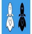 Icons with rockets vector image