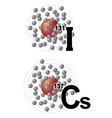 radionuclides of iodine vector image